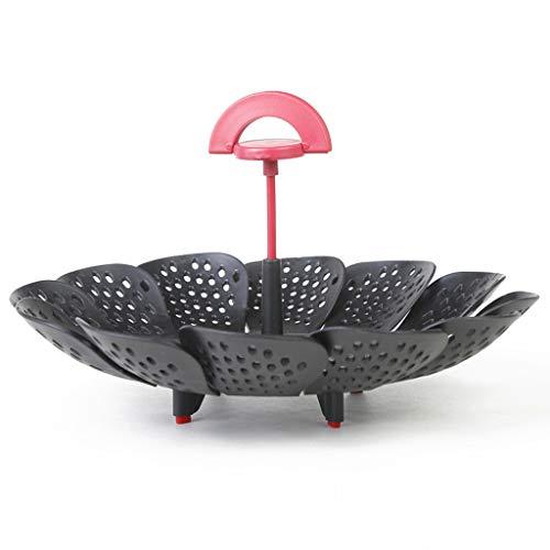 ️ Yu2d ❤️❤️ ️Lotus Type Retractable Folding Fruit Basket Portable Steamer Folding -