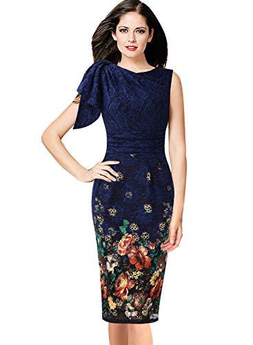 Print Drape Dress - 5