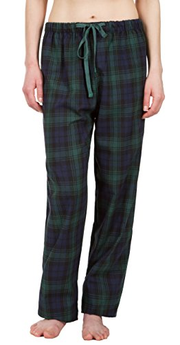 Green Pajama Ladies Pants Plaid (Leisureland Women's Green Plaid Lounge Pajama Pants Small)