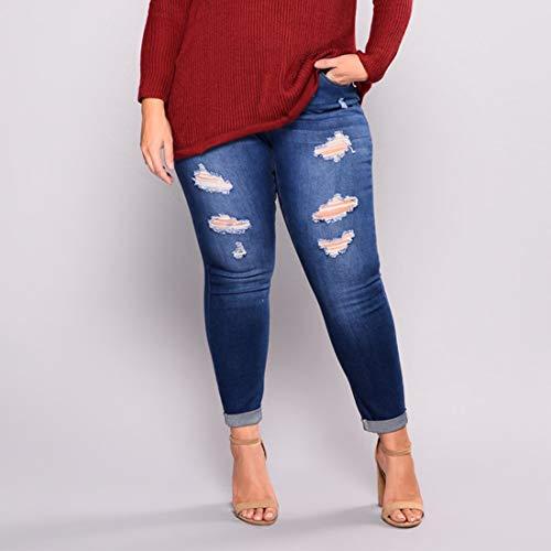color Pantaloni Jeans Donna Aderenti 4 2 Skinny Media Junfelicia Size Lunghi Style A Vita Strappati 7xl wvH4R