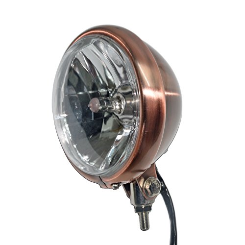"5 3/4"" Golden Vintage Metal Headlight for Copper Style Cafe Racer Bobber Motorcycle"