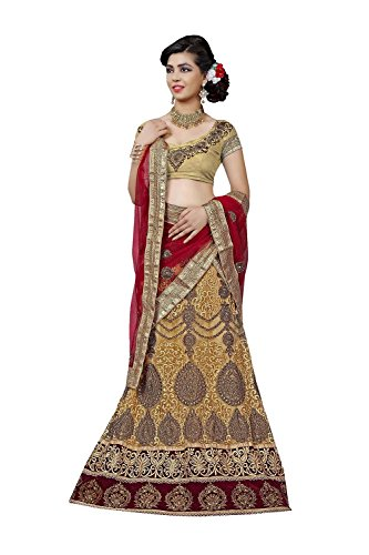 IWS Indian Women Designer Wedding BEIGE Lehenga Choli R-16076