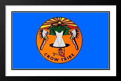 1c6d5243c Amazon.com: ArtDirect Native American Bandera Crow Tribe Flag 25x29 ...