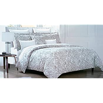 envogue bedding 3 piece king duvet cover set neutral classic floral medallion pattern in in shades
