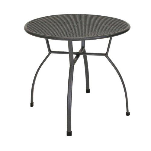 Amazon.de: greemotion Tisch Toulouse eisengrau, runder Gartentisch ...
