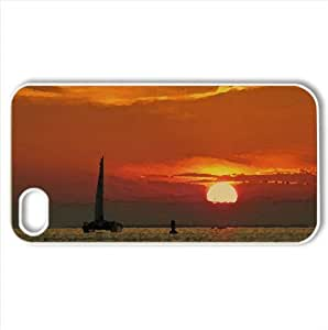 Catamaran Watercolor style Cover iPhone 4 and 4S Case (Beach Watercolor style Cover iPhone 4 and 4S Case)