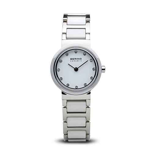 BERING Time 10725-754 Womens Ceramic Collection Watch with Stainless Steel Band and Scratch Resistant Sapphire Crystal. Designed in Denmark.