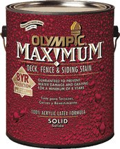 Olympic Ppg 79604A/01 Gal Nav Red Solid Stain Exterior Stain, Latex (Olympic Solid Color Deck Stain)
