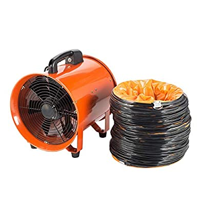 Extractor Fan Blower 12'' Portable Duct Hose Fume Utility Ventilation Exhaust Blower Want to Dry, Bathroom Floor, Patio, More