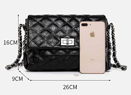 Moda Pequeño De Crossbody Señoras Bolso Negro Las Bolso Cuadrado BYw4qxnA5x