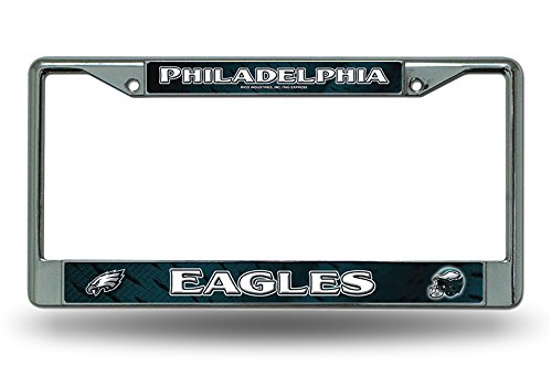 NFL Philadelphia Eagles White Chrome Licensed Plate Frame (License Eagles Plate)