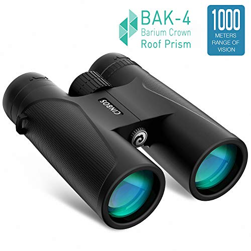VEMTONA 12x42 Binoculars for Adults, Compact HD Professional Binoculars for Hunting, Concert Travel Bird Watching Sports Traveling, BAK4 FMC Lens with Carrying Bag and Neck Strap (Standard)