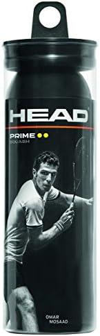 HEAD Prime Squash Balls - Double Yellow Dot 3-Ball Tube