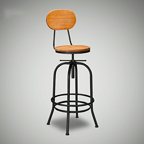 Retro iron bar chairs / high stool / back lift, creative metal bar stool by Xin-stool