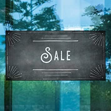 Garage Sale 5-Pack Stripes Gray Clear Window Cling 30x20 CGSignLab