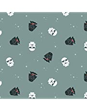 """1.5 Yards Flannel Fabric - Star Wars - Empire Dreams - Flannel - 100% Cotton 42/43"""" - Color Grey - Officially Licensed Great for Quilting, Throws, Sewing, Craft Projects, Blankets, and More"""