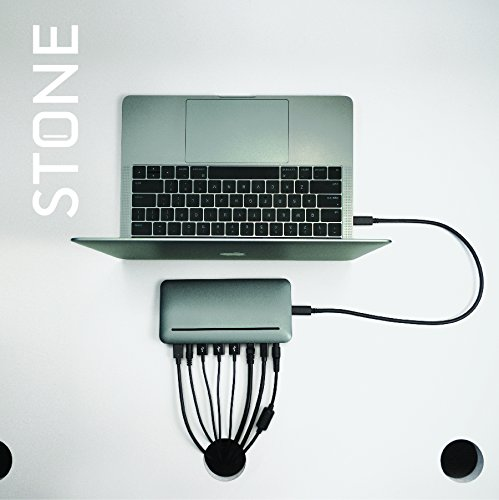 USB C Dock for MacBook Pro - Mini DisplayPort, Ethernet port, power supply, 3 USB ports, SD card, and headphone/speaker connections - Stone by Henge Docks by Henge Docks (Image #4)
