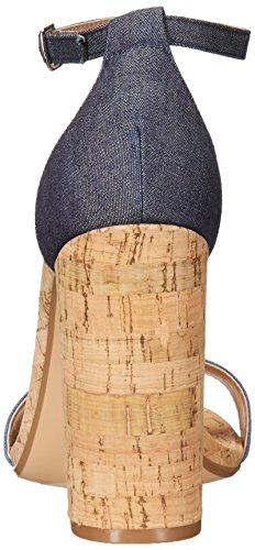 Steve Madden Womens Carson-C Dress Sandal Denim Fabric