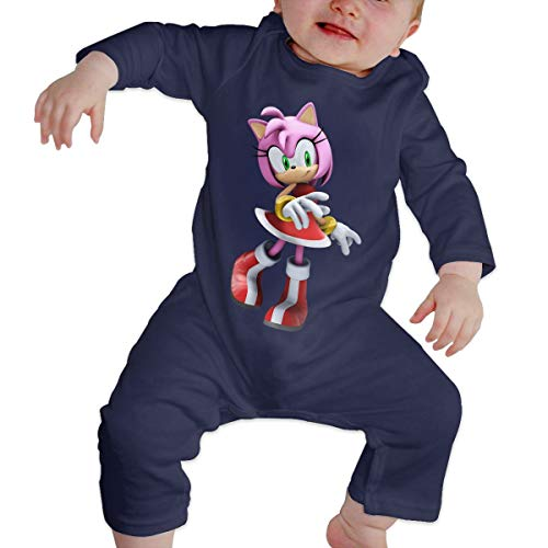 YoosupperN Babys Sonic Hedgehog Amy Rose Casual Style Comfortable Long Sleeve Romper Bodysuit Outfits -