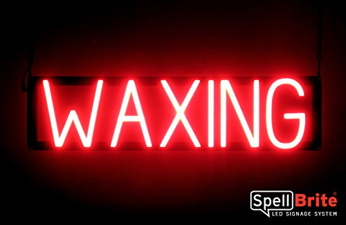 (SpellBrite Ultra-Bright WAXING Sign Neon-LED Sign (Neon look, LED performance))