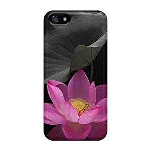 5/5s Scratch-proof Protection Cases Covers For Iphone/ Hot Pink Flower Phone Cases