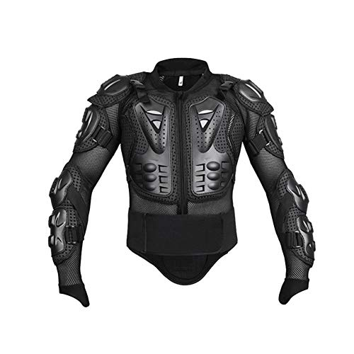 (FOONEE Motorcycle Full Body Armor, Thick and Flexible Anti-Fall Breathable Wear-Resistant Shockproof Protective Jacket, Waist Can Be Active Motorcycle Off-Road Unisex)