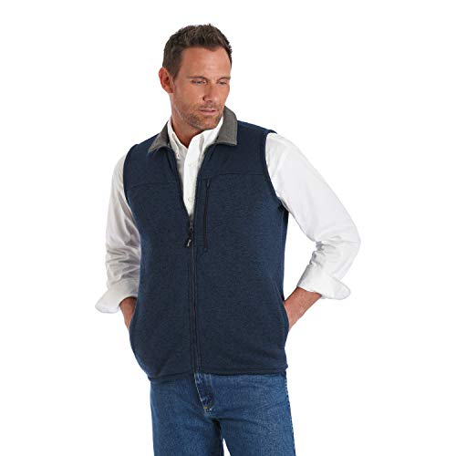 Wrangler Men's George Strait Blue Heather Knit Vest - MGSK48B (XX-Large)