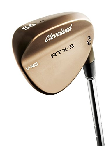Cleveland Golf Mens RTX-3 VMG Tour Wedge, Right Hand, Steel, 58 Degree, Raw Heads