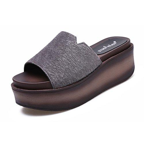 EU38 épaisseur chaussures de taille chaussures couleurs HAIZHEN 4 6 en sortes Pour CN38 hautes pour 7cm Bottines UK5 femmes Couleur en avec femmes 6 Femelle été gros 5 ag7TdXw7q