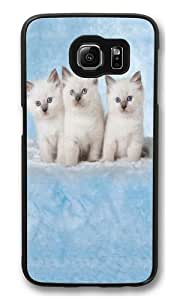Cloud Kittens Custom Samsung Galaxy S6/Samsung S6 Case Cover Polycarbonate Black