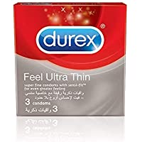 Durex Feel Thin Ultra Condom - Pack of 3
