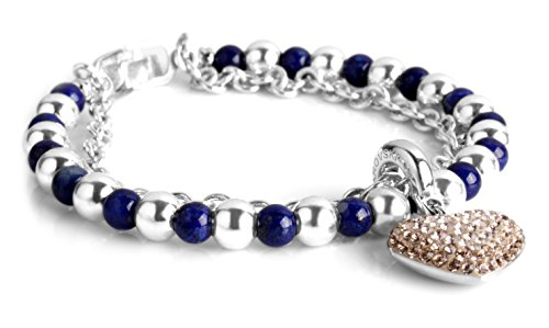 Bracelet Lapis-lazuli Swarovski BeCharmed Silver 2Line For Kids Edition Runway 9102KB (16) by Cloisonnekorea