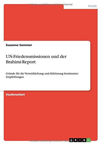 Read Online UN-Friedensmissionen und der Brahimi-Report (German Edition) pdf epub