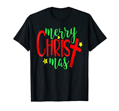 Merry Christmas-Christmas Christian Costume T Shirt (Christmas Religious Merry)