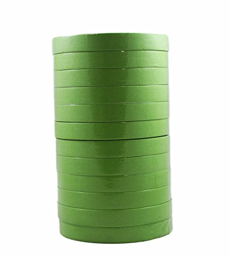 3M 26334 Scotch 3/4 Inch Performance Masking Tape Sleeve of 12 Rolls, Green ()