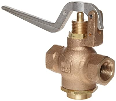 """Kingston 305A Series Brass Quick Opening Flow Control Valve, Squeeze Lever, 1/2"""" NPT Female from Kingston Valves"""