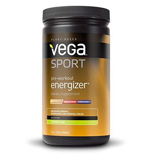 Vega Sport Pre-Workout Energizer, Lemon Lime, 19oz, 30 (Vega Sports Drink)