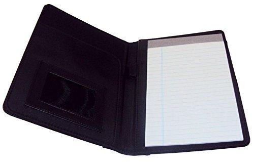 faux-leather-mini-padfolio-with-mesh-id-window-document-pocket