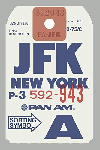 PAN AM JFK Baggage tag: Design Classic - Lined notebook , journal and diary (Graphic Editions) ()