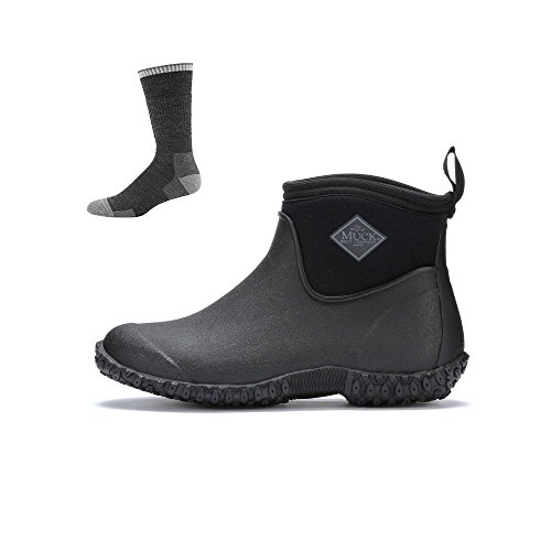 Muck Boot Womens Muckster 2 Ankle Snow Boot Black W/ Socks XII6On