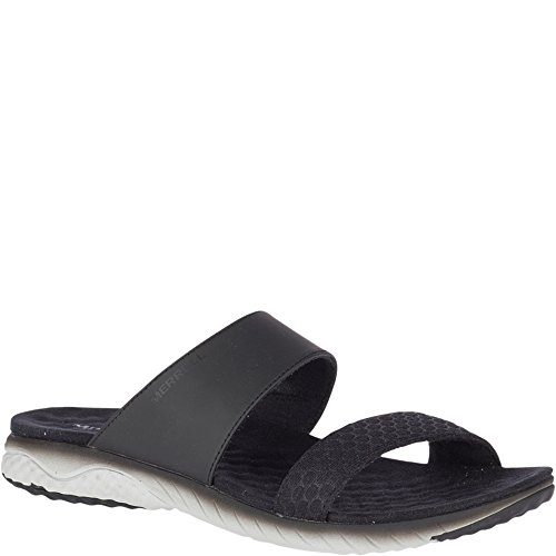 Merrell Women's 1SIX8 Linna AC+ Slide Sandal, Black, 7 Medium US by Merrell