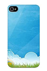 For Iphone Case, High Quality Stars And Rainbow Circles For Iphone 4/4s Cover Cases / Nice Case For Lovers' Gifts