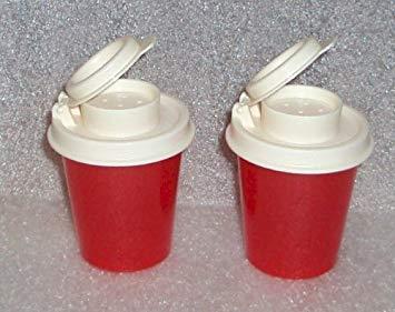 Tupperware Salt and Pepper Shakers Mini Set, Red (Salt And Pepper Shaker Tupperware)