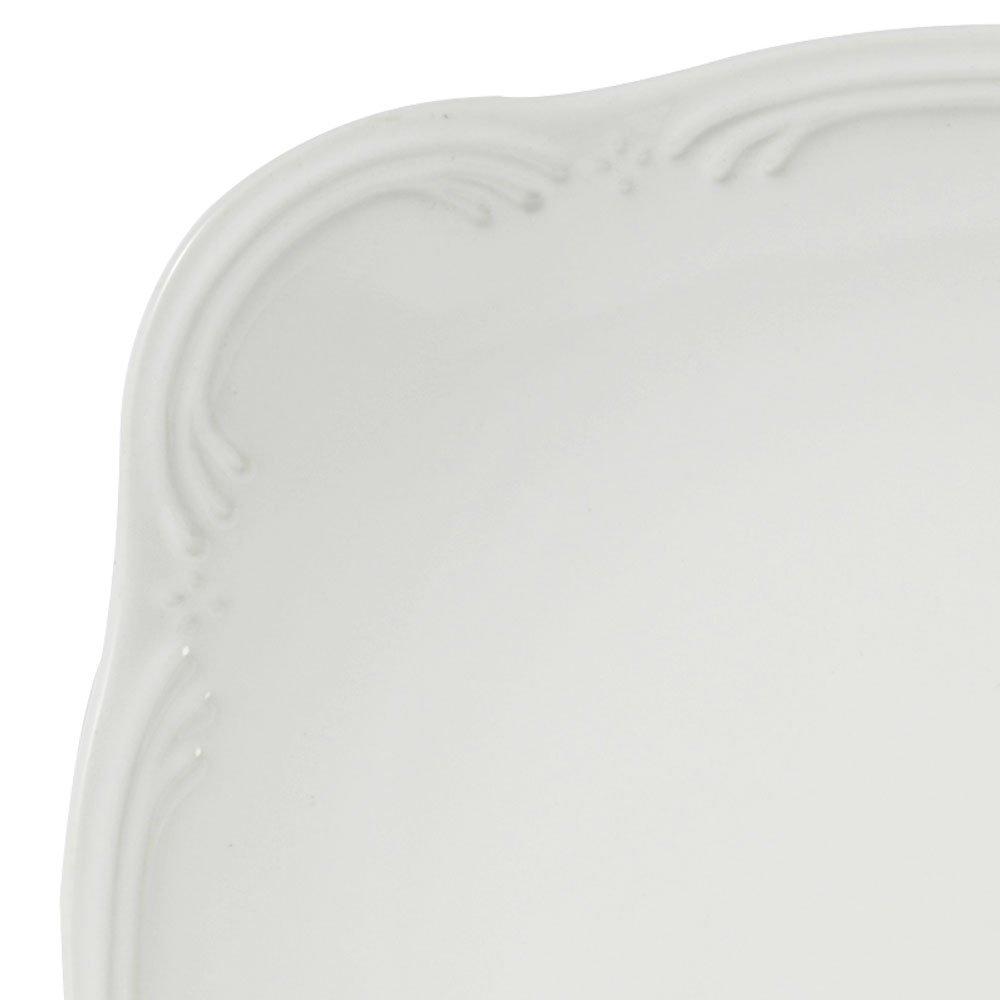 Pfaltzgraff Filigree Square Dinnerware Set 48 Piece , White