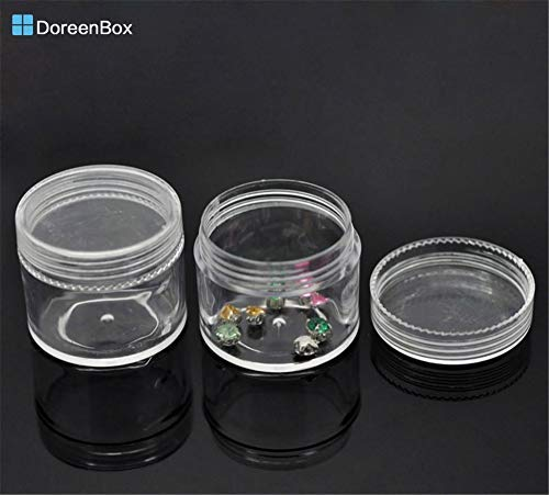 (Sos. Tin Box Storage Jewellery Doreen Box hot- 6PCs Loose Bead Storage Container Tins 3.8x3.3cm(1 4/8