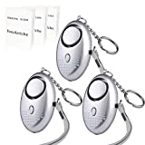 FansArriche 3 PACK SafeSound Personal Alarm Keychain Self Defense Protection Devices 140 DB for Women/Kids/Girls/Elderly