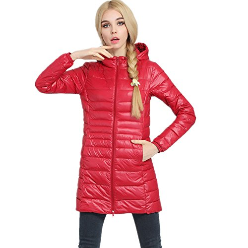 Red Women's Pillow Outwear Powder Lightweight Packable Down Jackets Coat Down LJYH 1w5Cdvqw