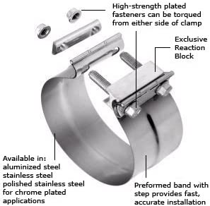2.75 Torca TorcTite Preformed Slip Fit Exhaust Clamp 304 Stainless Steel