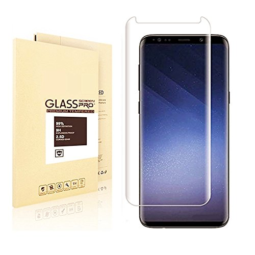 Samsung Galaxy S9 Screen Protector, Fanouc Anti-Scratch High Definition Bubble Free Anti-fingerprint Tempered Glass Screen Protector for Samsung Galaxy S9 Tech Print Video