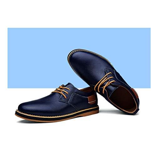 Cuero De Hombres Encaje Blue Ocio Primavera Negocios Otoño Moda Lyzgf Jóvenes Zapatos Y POw4qxCq6T